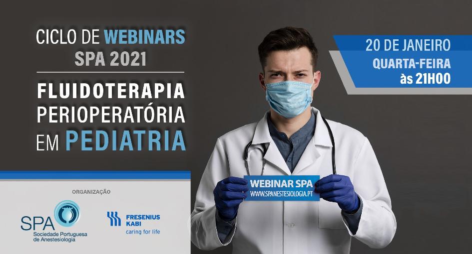 Ciclo de Webinars SPA 2021: Fluidoterapia Perioperatória em Pediatria