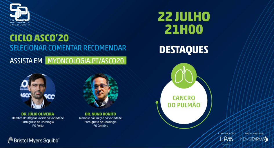 Ciclo ASCO'20: cancro do pulmão