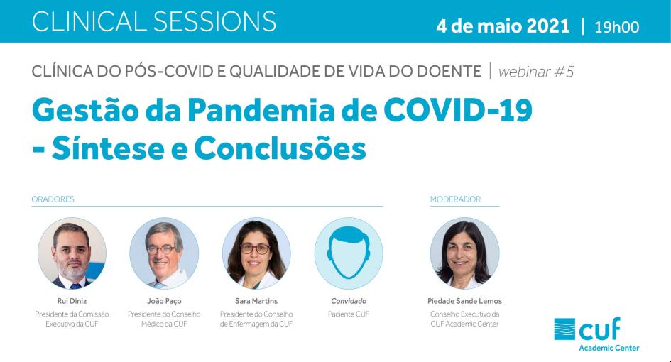 Clinical Sessions - Gestão da pandemia de COVID-19 | Síntese e conclusões