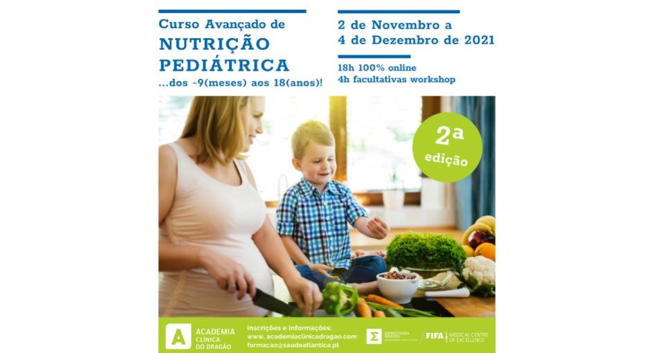 2º Curso avançado de nutrição pediátrica…dos -9(meses) aos 18(anos)!